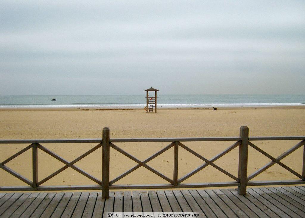 沙滩守望者(青岛薛家岛风光)图片