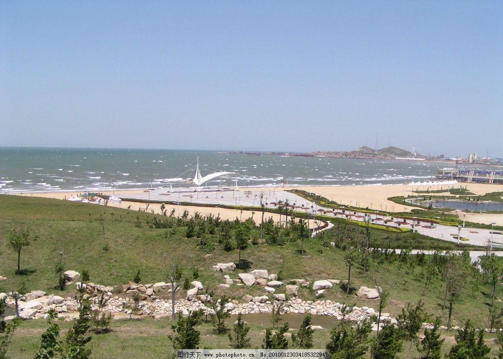 山水 松树林 大海 远景 海鸥广场 沙滩 自然风景 旅游摄影 摄影 72dpi
