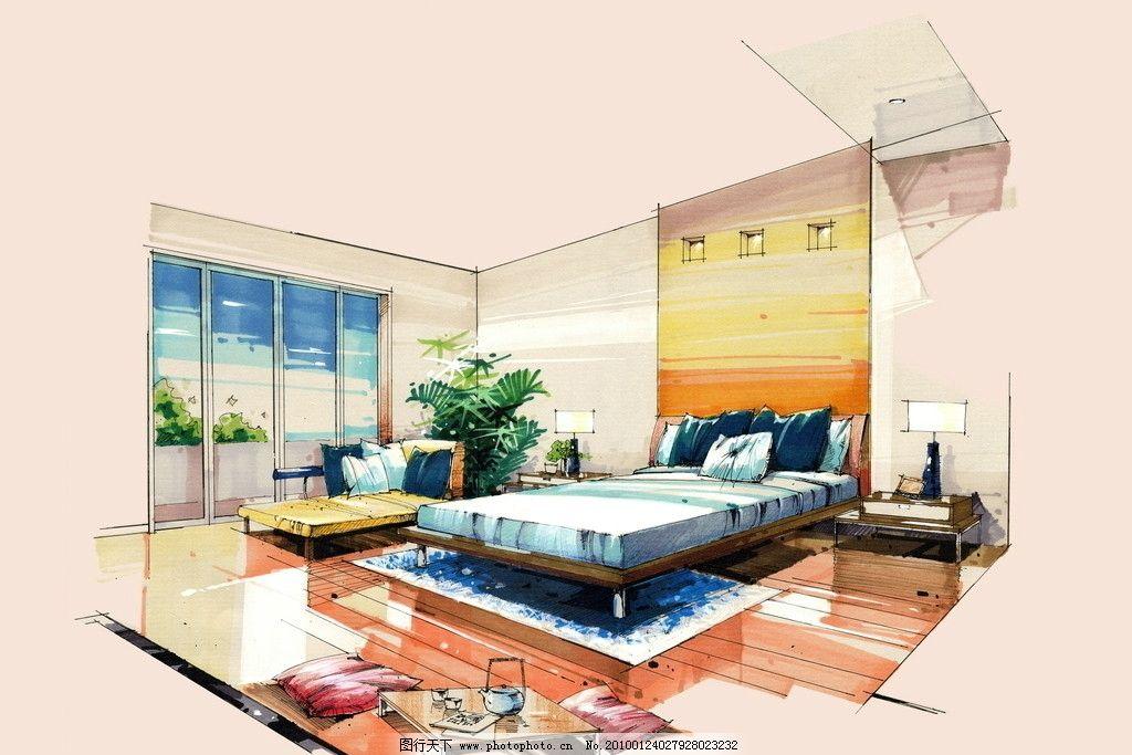 手绘室内效果图 室内设计 手绘效果图 室内      沙发 设计 手绘