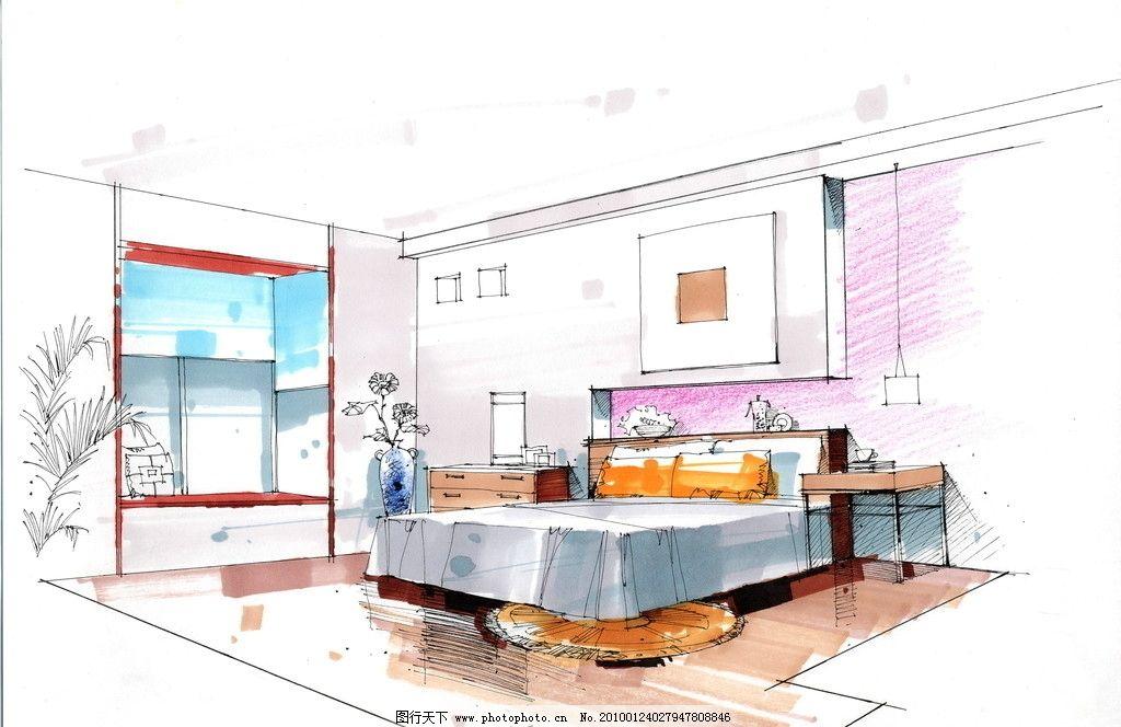 室内设计 手绘效果图 室内      沙发 设计 手绘        环境设计