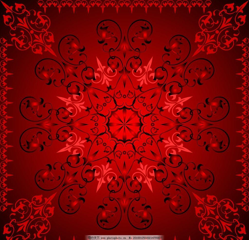 红色花纹 红色 花纹 地毯 背景 背景底纹 底纹边框 设计 300dpi jpg