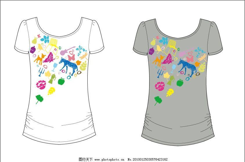 t shirt t恤 印花 时尚 潮流 可爱 服装 图案图片