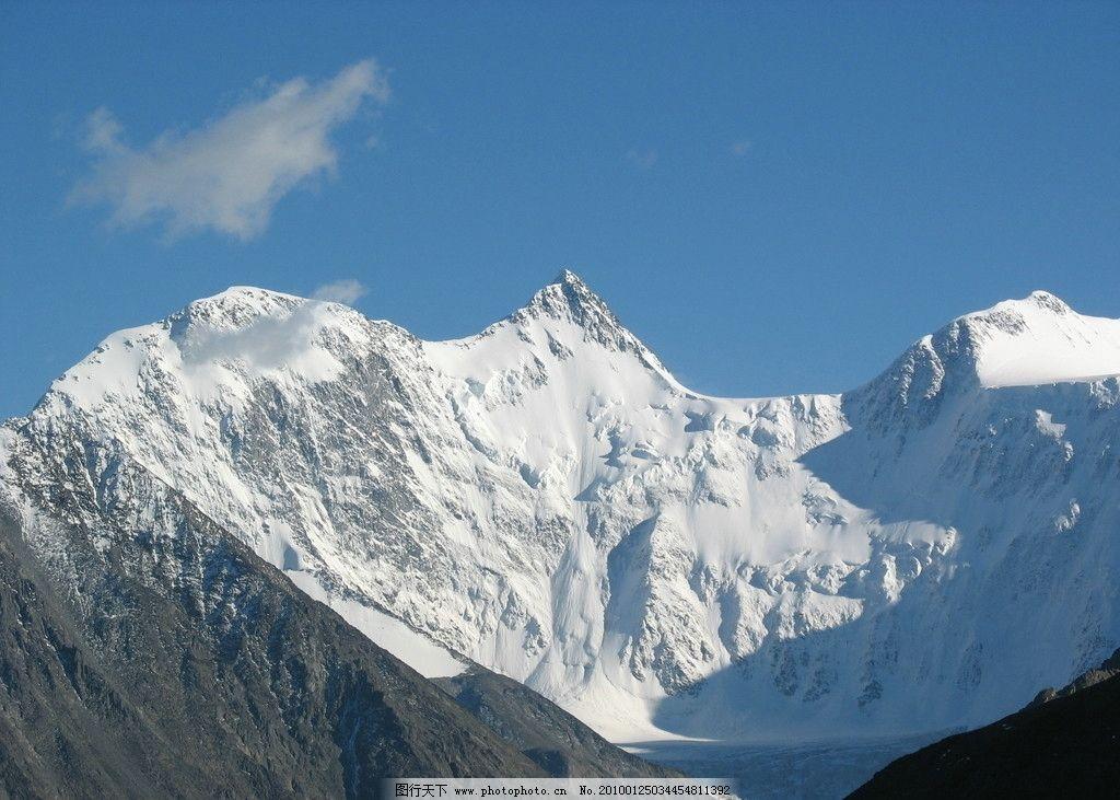 雪山 远山 蓝天 山水风景 自然景观 摄影 180dpi jpg