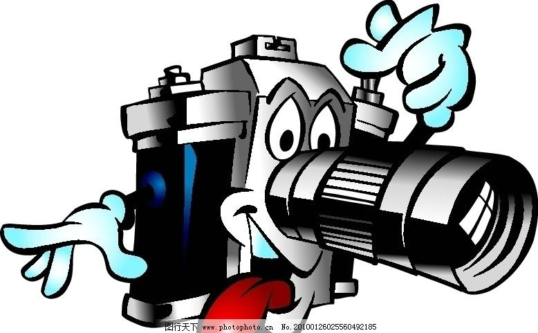 卡通 夭量 相机 照相相机人物胶卷合集 生活用品 生活百科 矢量 eps