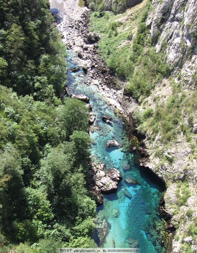 河流 流水 森林 树林 树木 风景 美丽 绿色 山川 峡谷 自然风景 自然