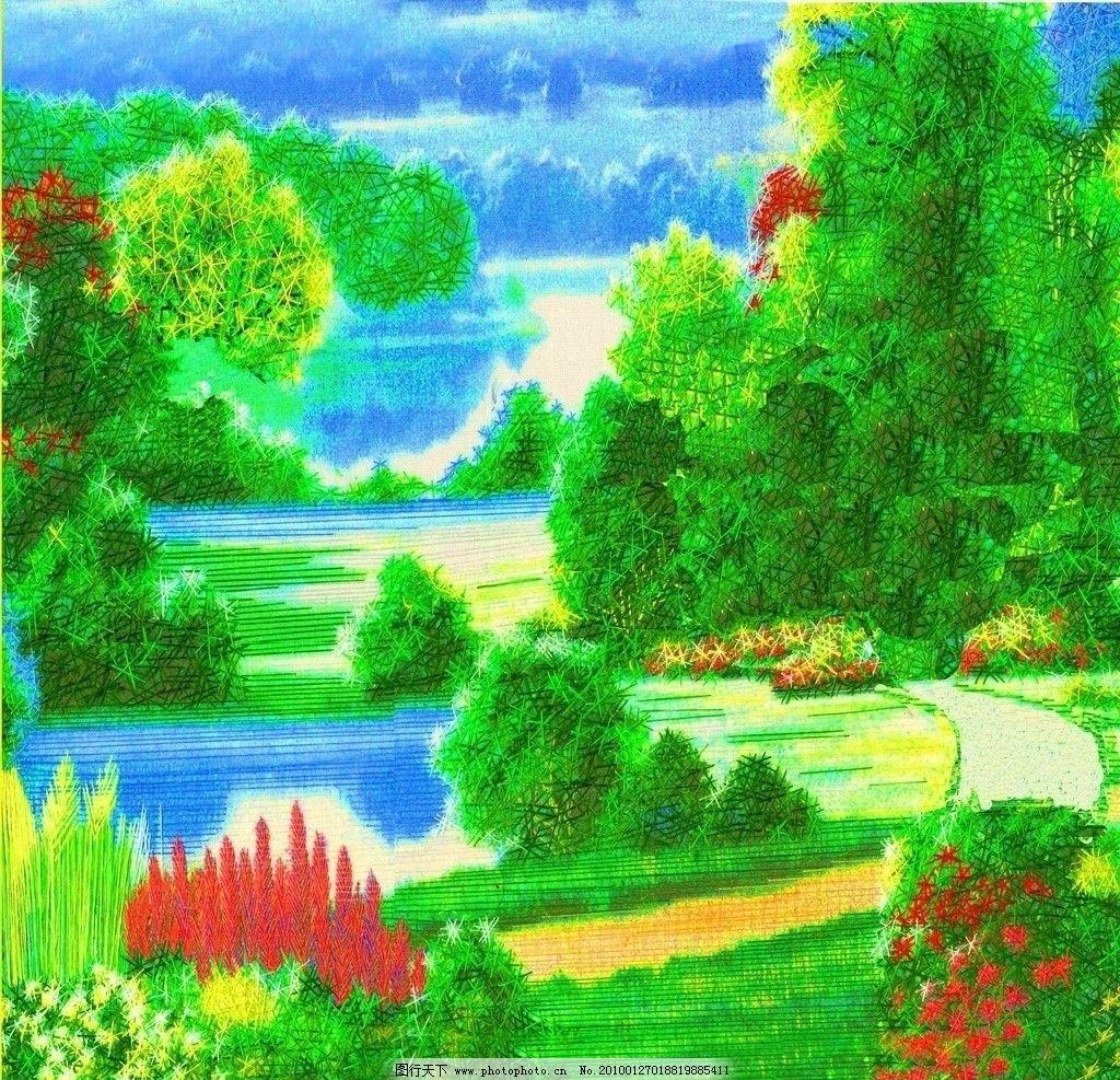 园林小屋图片
