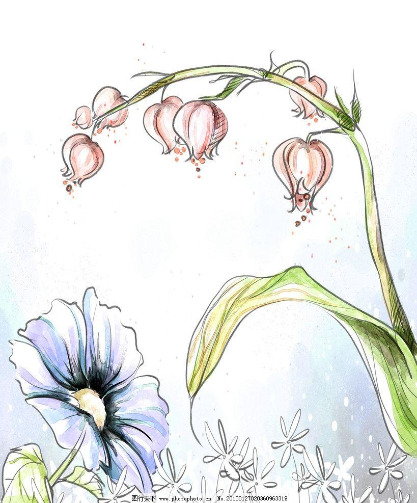 铃兰 移门 水墨画 花 花边花纹 底纹边框 设计 72dpi jpg