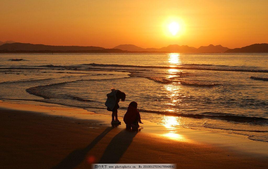 海边日出图片_自然风景_旅游摄影_图行天下图库