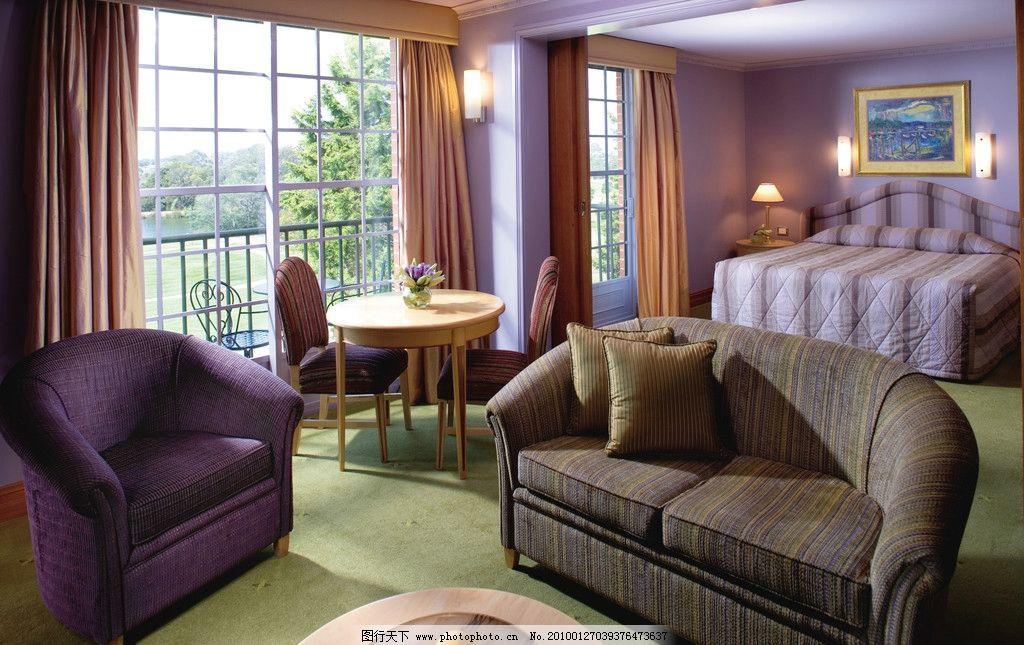 豪华卧室 家具 床 装修 古典 欧式家具 台灯 地毯 窗帘 家具生活