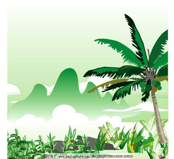 海南五指山矢量风景图片