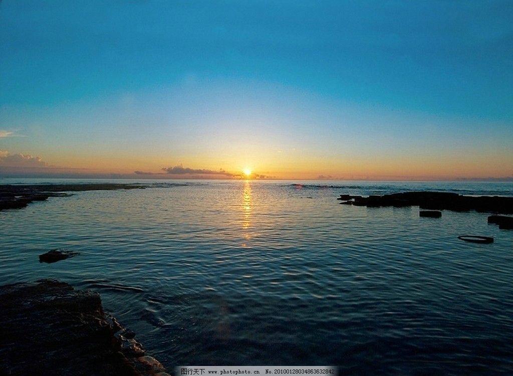 海上日出 摄影图库 自然景观 自然风景 海 日出 朝阳 晨曦 摄影 300