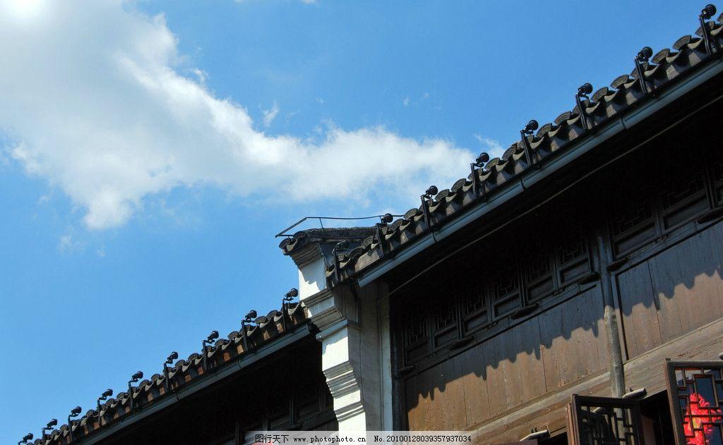 徽派木结构房檐