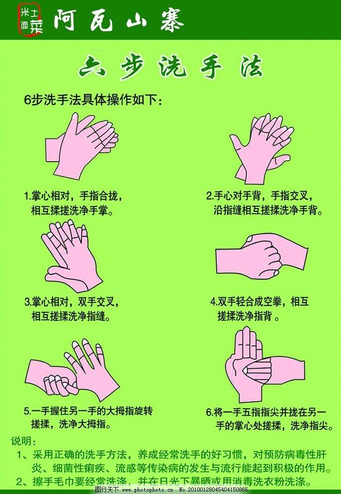 洗手法步骤图单张分解图