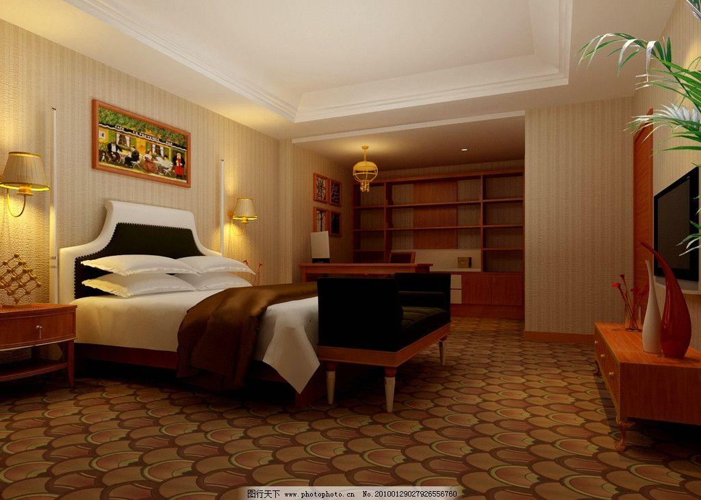 宾馆套房卧室设计图图片
