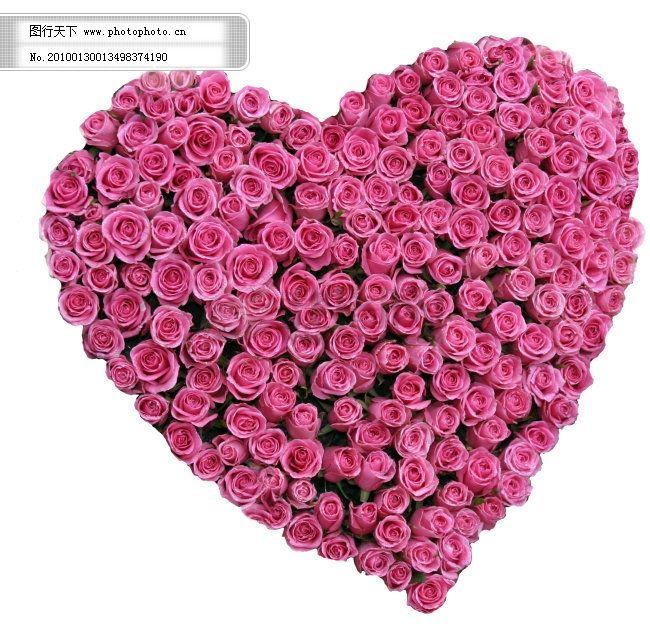 高清创意设计素材-心形玫瑰