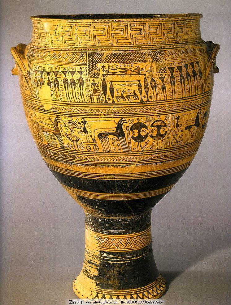 陶器 花纹 罐子 高清 埃及纹样 图案 古典 工艺品(二) 传统文化 文化