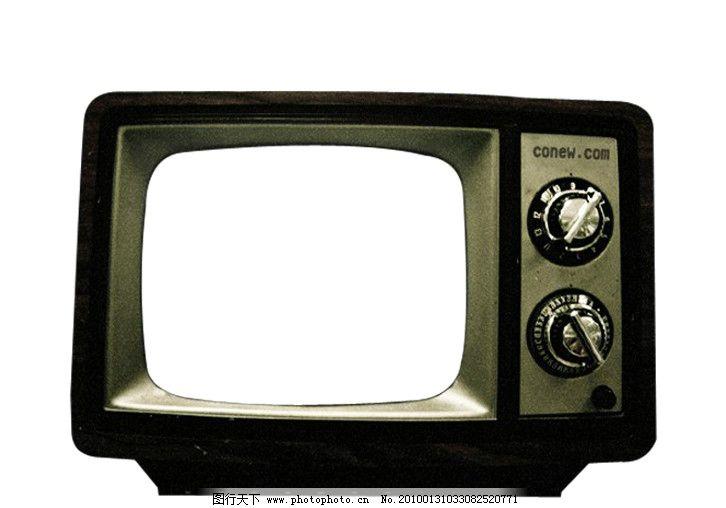 黑白电视机psd