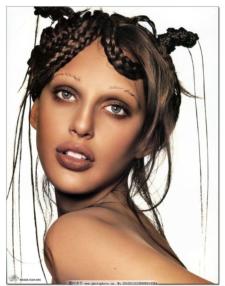 美人志 外国美女 头像 彩妆 女性女人 人物图库 摄影