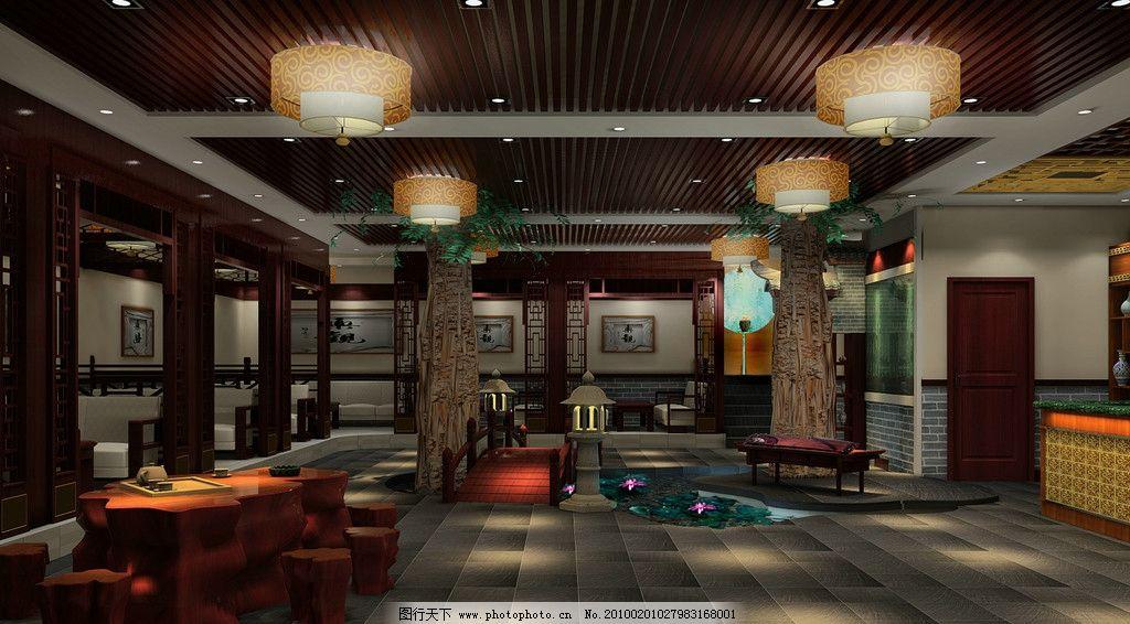 中式茶楼大厅五 环境设计 室内设计 仿古建筑 中式古建 茶楼设计 大厅
