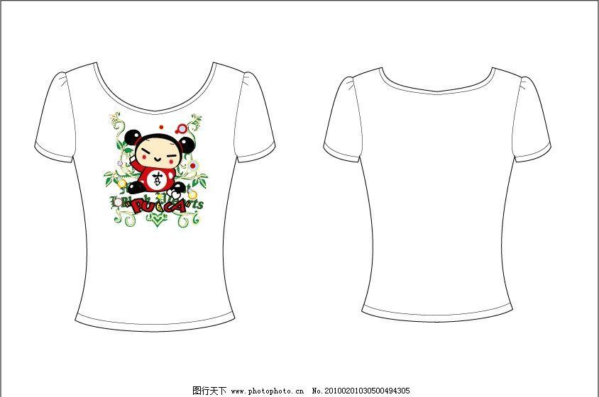 t shirt t恤 印花 可爱 服装 卡通 中国 娃娃 图片