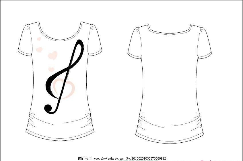 t shirt t恤 印花 可爱 服装 卡通 爱心 音乐 音符 图片