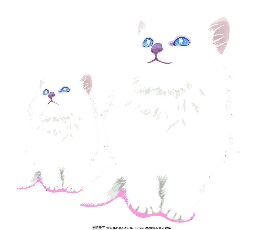 可爱猫咪psd 源文件 白猫 小猫 动物 宠物 卡通