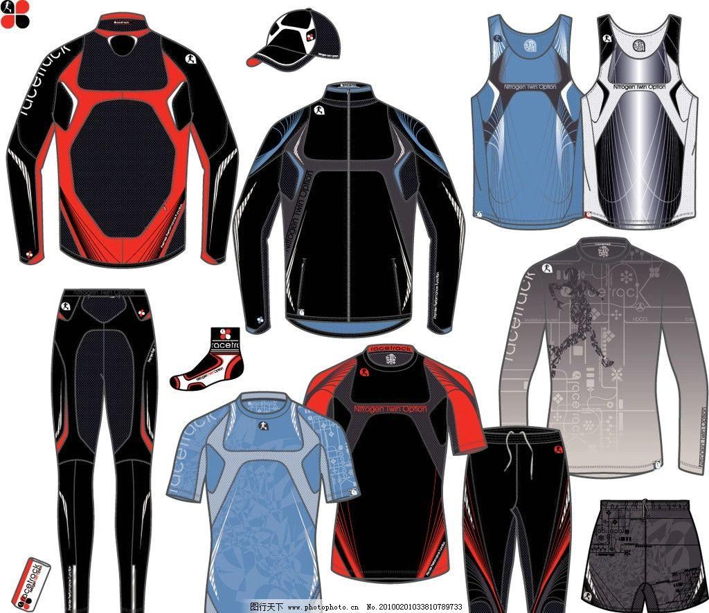 服装设计 服装手稿 运动装手稿 服装设计手稿 矢量素材 其他矢量