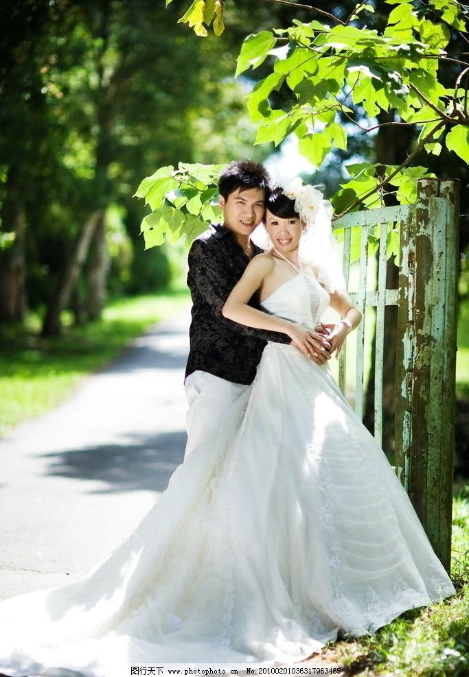 外景高清婚纱照图片