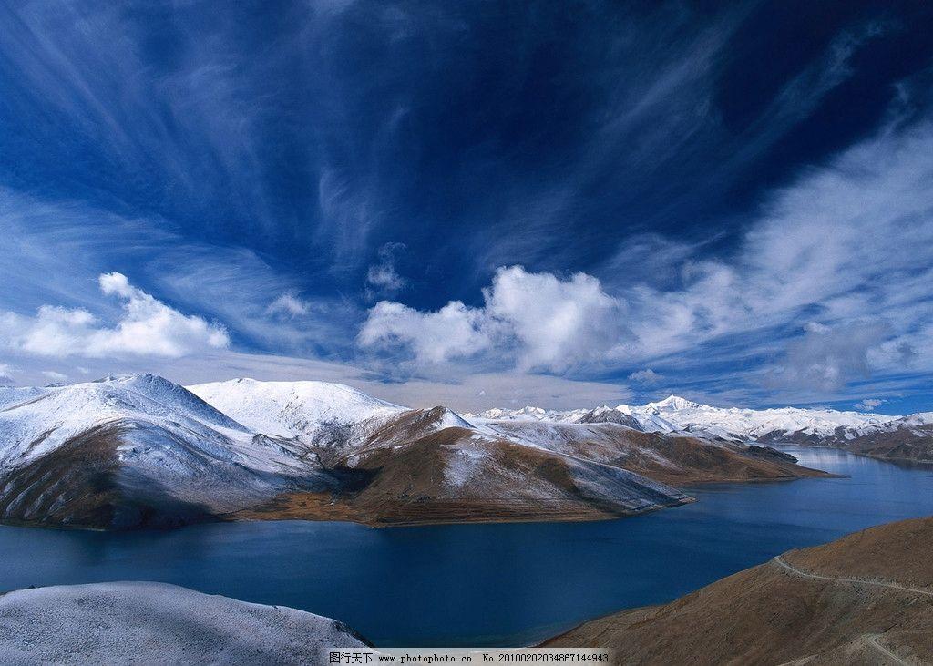 蓝色湖景 森林 湖泊 树木 背景 倒景 自然风景 自然景观 摄影