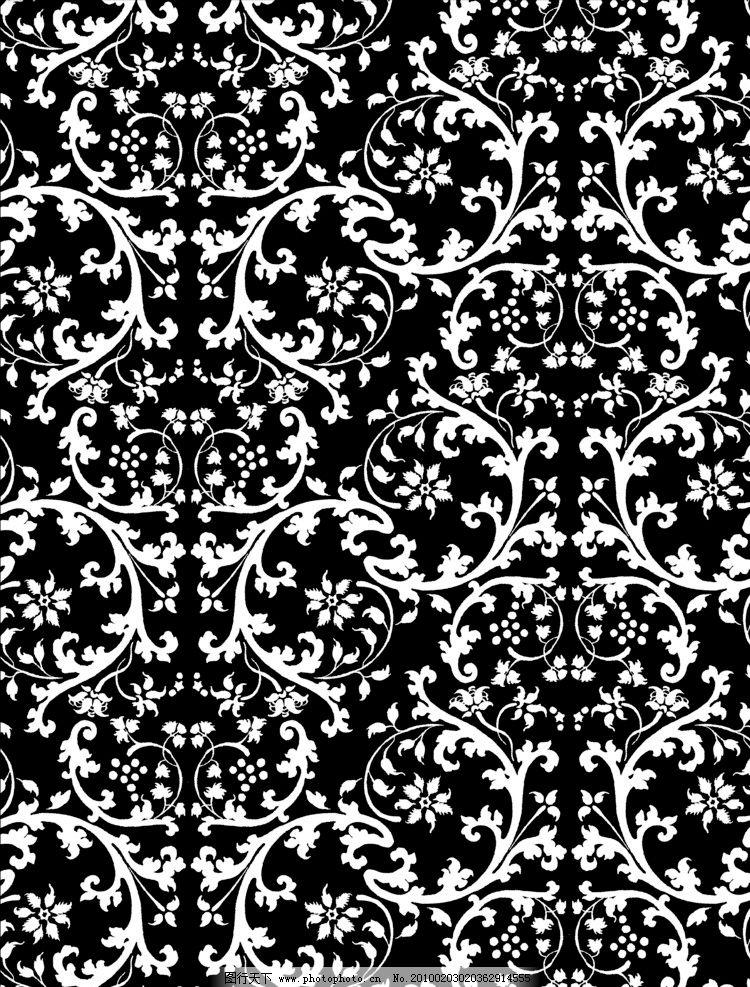 古典图案 欧洲古典图案 经典 花纹 腾 素描 黑白 花边花纹 底纹边框