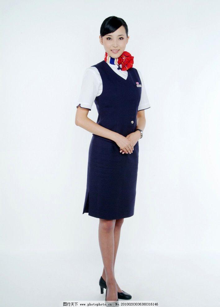 空姐制服全身照图片
