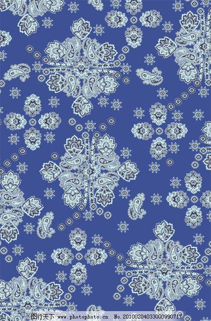 高清素材 欧式花纹 高清素材 psd分层源文件 蓝印花布 布料 欧式花纹