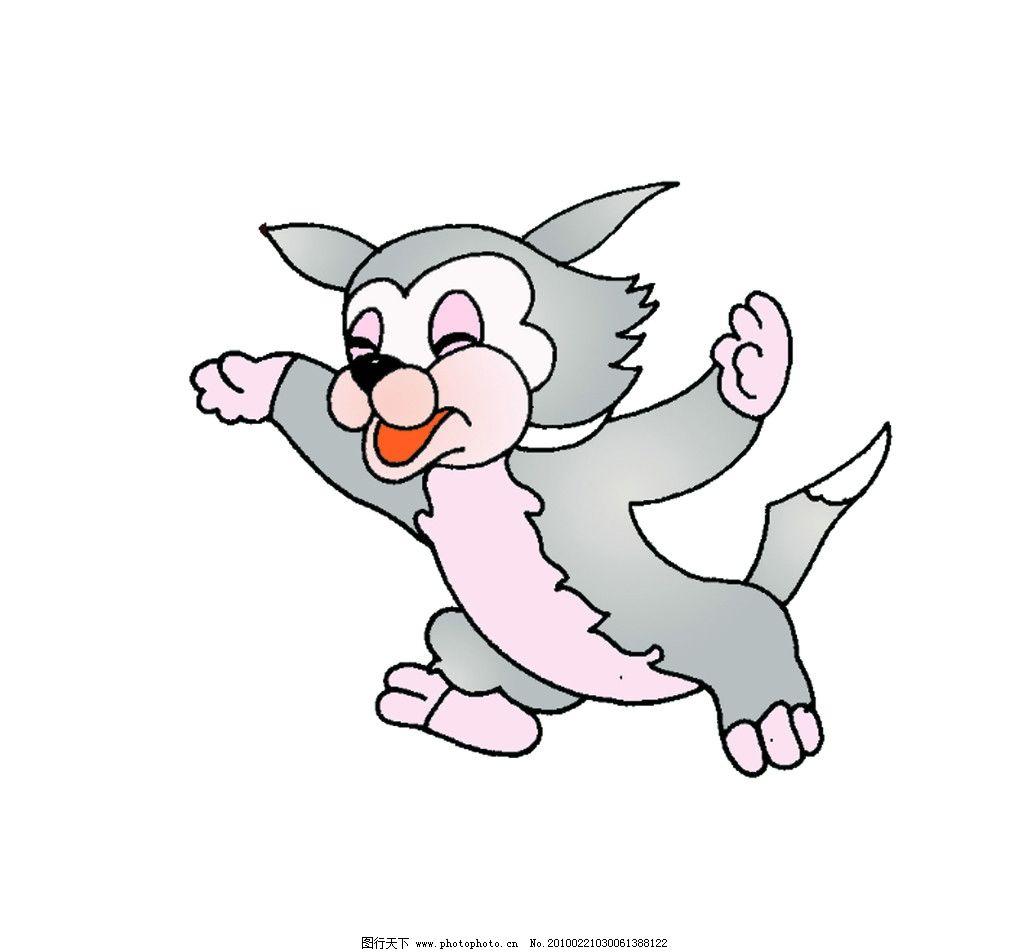 小灰兔 漫画 可爱 海报设计 广告设计模板 源文件 300dpi psd