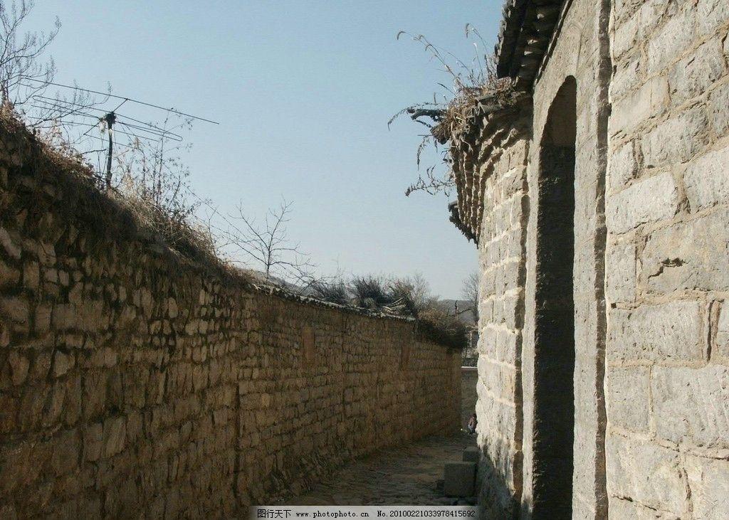 山西古建筑设计风景 山西 庭院 砖石 天空 古建筑 设计 实景 国内旅游