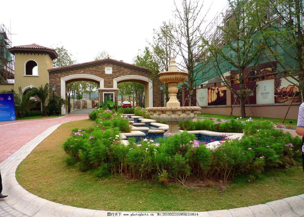 欧式住宅景观小品 喷泉图片图片