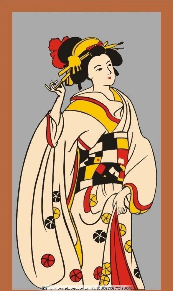 日本花姑娘图片
