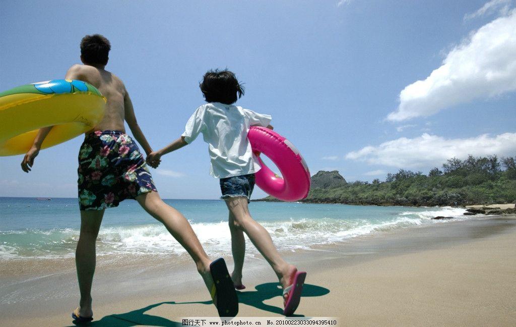 海边奔跑图片