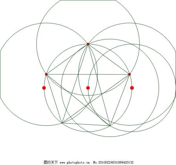 五角星标准画法 五角星 圆 画法 设计 学习 其他模版 广告设计模板 源