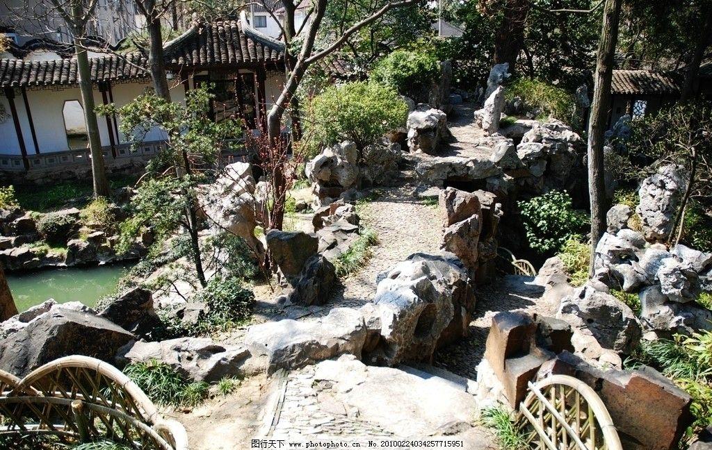 苏州园林的小径 园林小径 园林假山 人文景观 旅游摄影