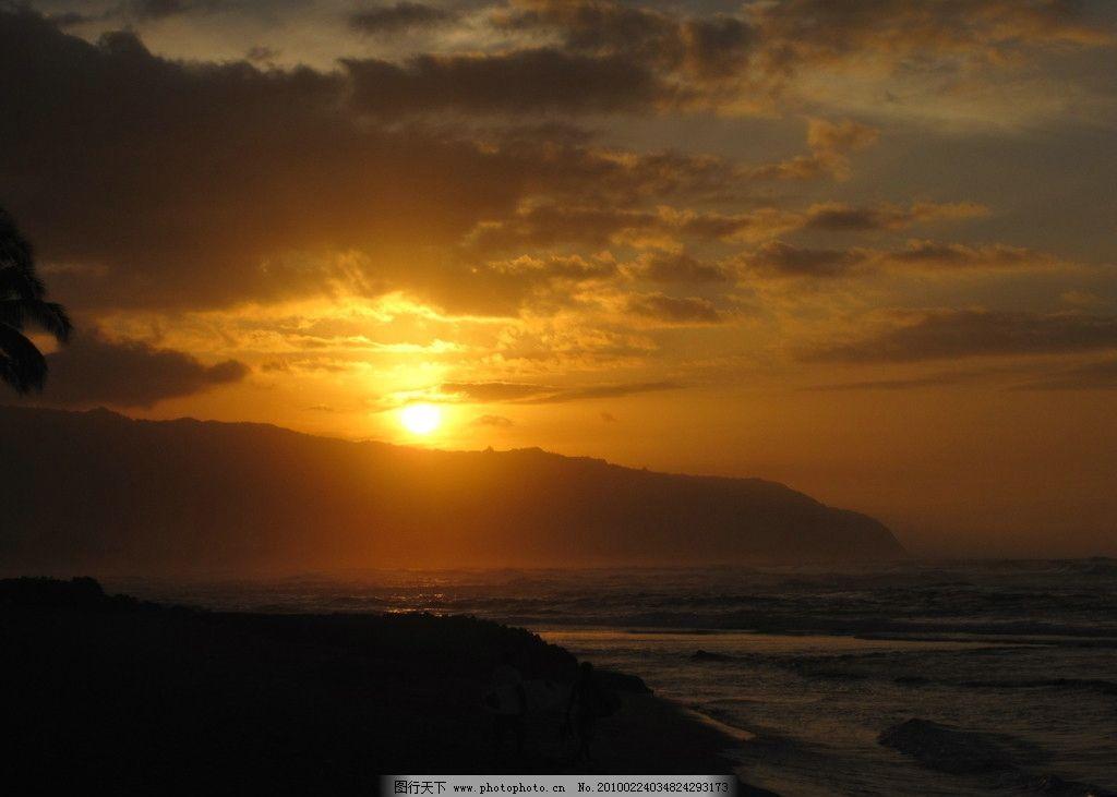 日落 黄昏 大海 晚霞 自然风景 自然景观 摄影 180dpi jpg