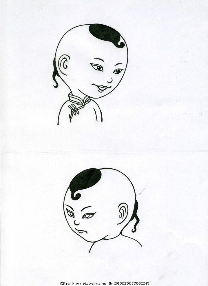 长头部表情简笔画