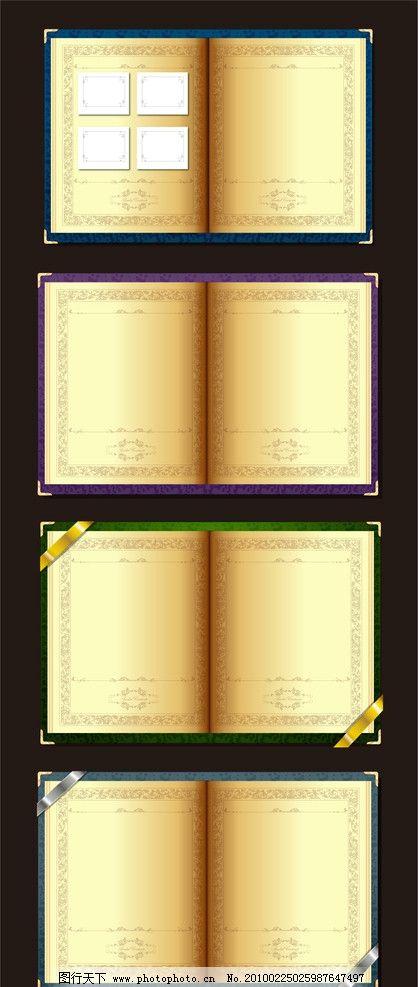 书本 金色书本 标签 欧式花纹 花纹 底纹 本子 翻开的书 学习用品