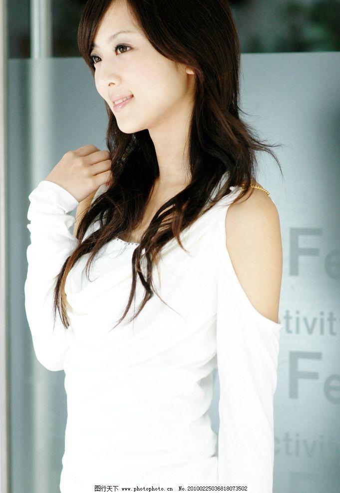 清纯美女 唯美 写真 可爱 长腿 小美女 气质 漂亮 美丽 白色衣服
