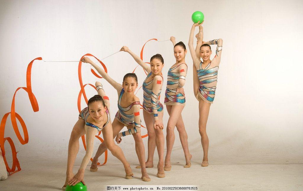艺术体操美女图片