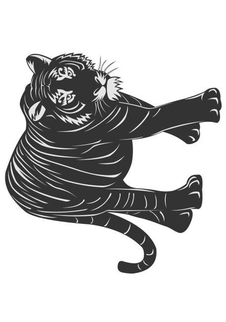 虎免费下载 黑白 虎 剪纸 虎 剪纸 黑白 虎年剪纸素材 图片素材 文化