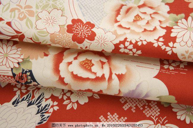 牡丹仙鹤布料花纹2