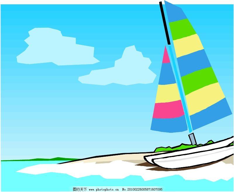 轮船等水上设备0351_现代科技_矢量图_图行天下图库