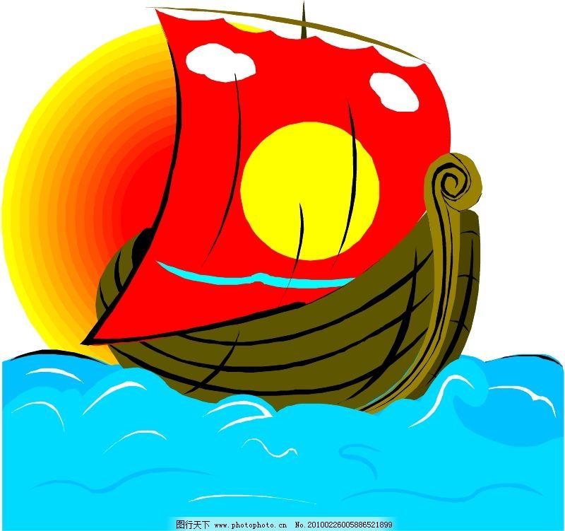轮船等水上设备0326_现代科技_矢量图_图行天下图库