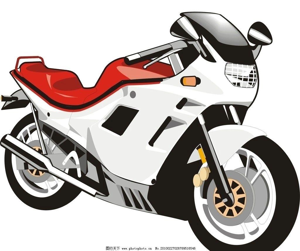 摩托车 赛车 矢量图 交通工具 现代科技 矢量 cdr