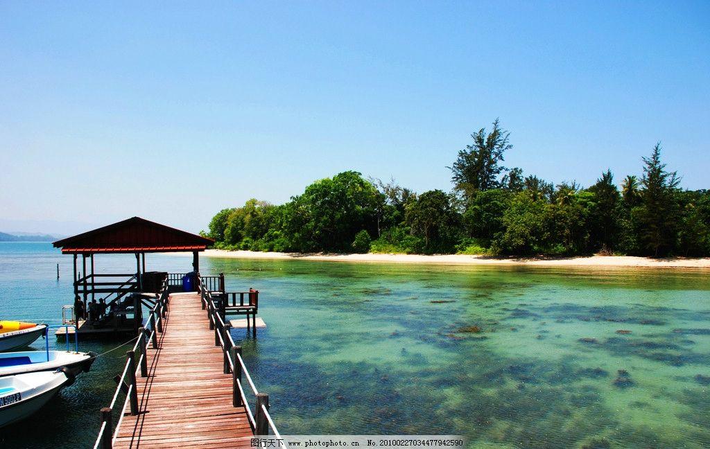 海边的小码头 海边 小岛 海边风景 山水风景 自然景观 摄影 72dpi jpg